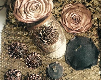 9 flowers copper color for customization