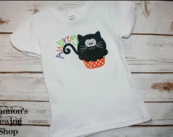 Halloween Shirt, Cute Halloween Shirt, Halloween Kitty Shirt
