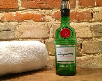 Gin Soap Dispenser // Tanqueray // Small size 35cl // gift for him // gift for her
