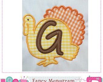 Turkey Monogram G applique,Thanksgiving Letter G applique,Thanksgiving,Font G,F,Turkey applique,Turkey design,G,Thanksgiving applique.-1631