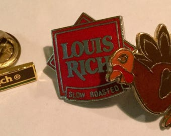 Set of New Louis Rich Rich Turkey Pins In Sealed Pavkages