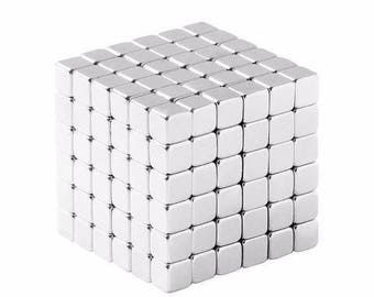 1/8 Inch Neodymium Rare Earth Cube Magnets N48 (216 Pack)