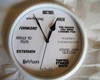 Geek Nerd Clock--DIGITAL DOWNLOAD ONLY (no physical product)