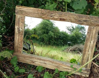 Hand crafted reclaimed wood mirror