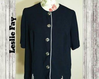 Vintage Leslie Fay Jacket Size 16WP