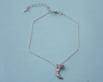 thin metal with elephant charm anklet