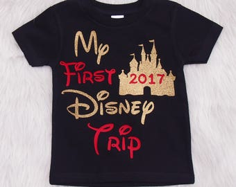 My first Disney Trip shirt - shirt for Disney vacation - Disneyworld shirt - Disneyworld shirt - vacation shirt - Disneyland