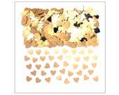 Light Gold hearts table confetti, weddings, wedding supplies, wedding decorations, table decorations, UK seller