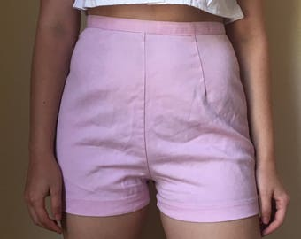 Totally 90s Clueless High Waisted Pink Shorts