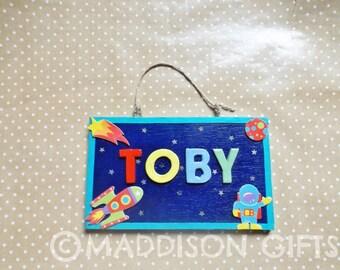 Kids Bedroom Door space door plaque | etsy