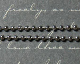 2mm silver ball chain
