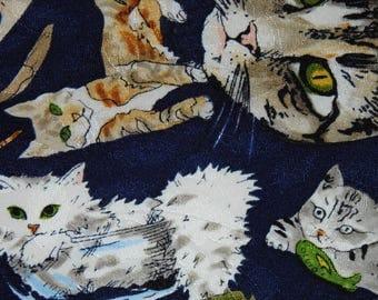 Vintage Cat Kitties Necktie Kitty Cats Necktie Nicole Miller Cats Tie