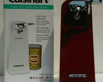 Cuisinart Tall Electric Can Opener in Cranberry Enamel ''NEW'' Custom Kitchen Color Decor
