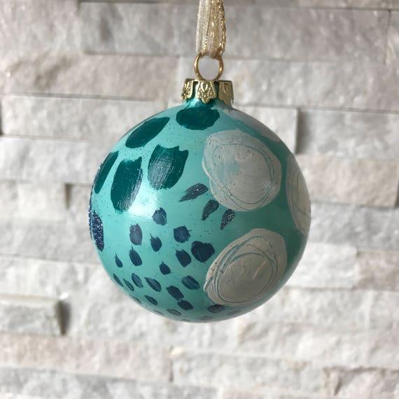 "Christmas Ornament- ""winter blues"" - Free Shipping"
