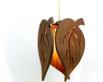 "Wooden Roof Luminaire ""leaves"""