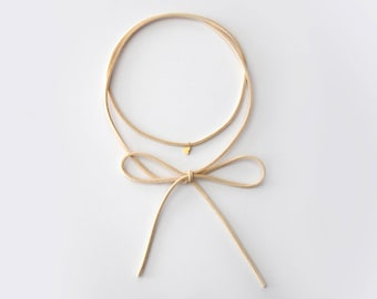 Heart Bolo Wrap Necklace - Vegan Leather - M1515H
