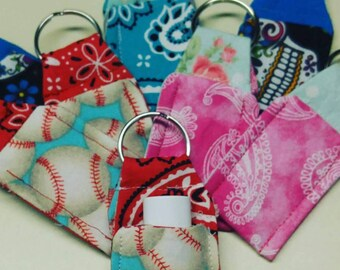 Keychain lip balm holder