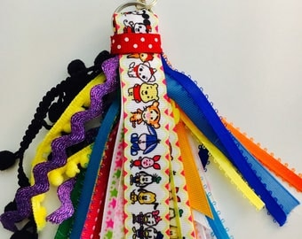Mickey and Friends Planner Tassel Keychain Eeyore Daisy Donald Pooh Tigger Minnie Sticker Party Gift