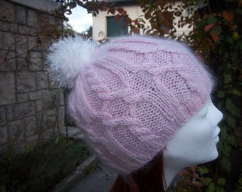 Hat woman wool and mohair