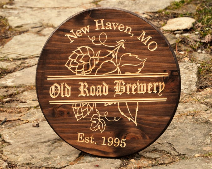 Beer Gifts Beer Sign Home Brew Father Gift Beer Bar Sign Wine Barrel Sign Pub Beer Brewery Personalized Pub Sign Tavern Sign Wheat Beer