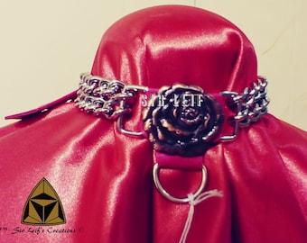 3028 - Fuschia Chain Collar