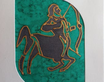 astrological sign of Sagittarius @evysoie silk card