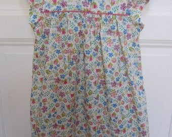 girl's dress in liberty cotton voile