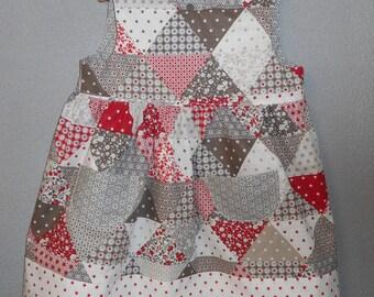 summer dress patchwork cotton 2/3 years