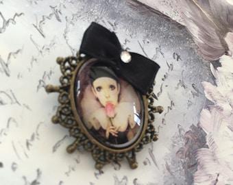 my friend Pierrot romantic brooch