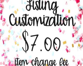 Listing Customization - K&K design works