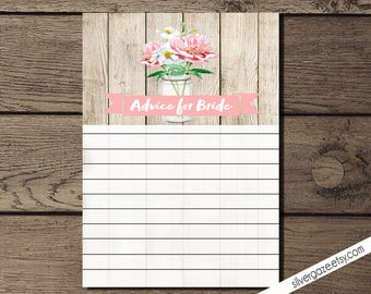 Advice for Bride, Rustic bridal shower _175