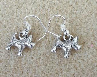 Terrier dog hypoallergenic earrings