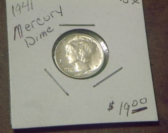 1941 Mercury Dime- High MS Quality- SILVER (UP36)