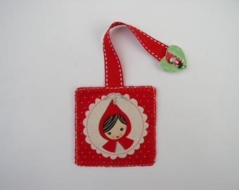 Mark little Red Riding Hood fabric with button
