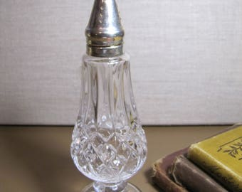 Shannon Crystal - Designs of Ireland - Lead Crystal Salt Shaker - Silver Plated Cap