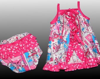 DRESS top with matching bloomer panties size 18 months