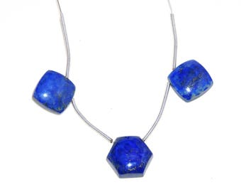 Brilliant Quality~ 100%Natural Smooth  Lapis Lazuli Fancy Shape Beads 13x14mm Approx  Top Quality On Whole Sale Price.{BD-09}