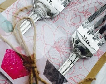 Mr./Mrs. wedding forks - new forks – wedding cake fork, wedding gift, engagement gift, bridal shower gift