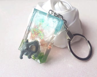 elephant keychain and a natural decor