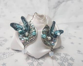 small flight of butterfly earrings