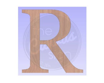 MONOGRAM initial - block style letter - DIY - Unfinished Wood Cutout - Wreath Accent, Door Hanger, Ready to Paint & Personalize