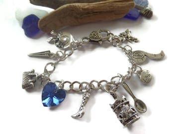 mary poppins, practically perfect, charm bracelet, poppins jewellery, poppins jewelery, mary poppins gift, poppins bracelet, birthday gift
