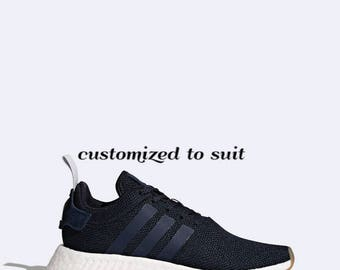 ADIDAS NMD R2 Custom Crystal Sneakers Bling Adidas Shoes