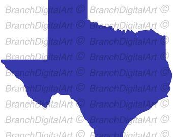 Texas Illustration for Cricut & Silhouette