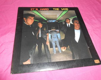 The Who It's Hard (Original) Album LP Record 1982 Warner Bros Records