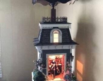 dollhouse table lamp, dollhouses, miniature, handmade, doll house , lamp