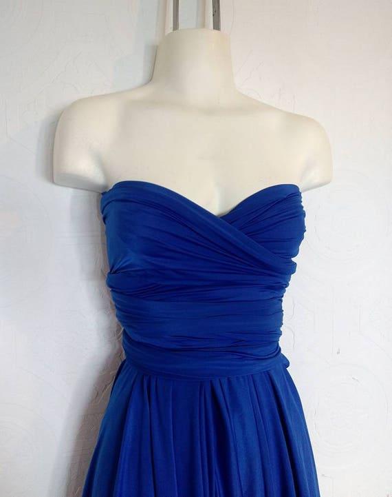 SALE : Cobalt Convertible Dress // small/medium