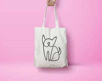 Minimalist Frenchie Tote Bag for French Bulldog, Pug, and Boston Terrier lovers!