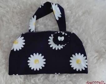 Baby bag in blue navy sunflower