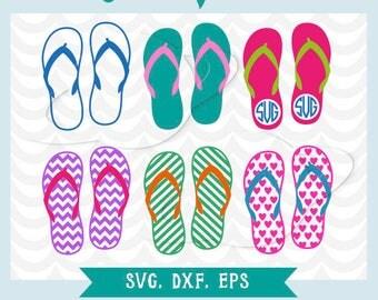 Flip flop svg. Flip flop dxf, ai, eps. Summer svg. Summer dxf